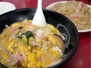 海鮮中華丼と皿うどん